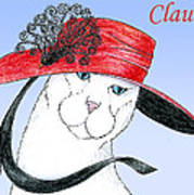 Feline Finery - Claudia Art Print