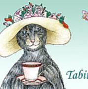 Feline Finery - Tabitha Art Print