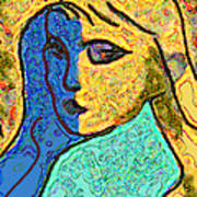 Feminine Kaleidoscope Art Print