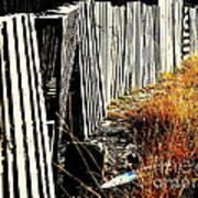 Fence Abstract Art Print by Joe Jake Pratt