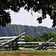 Fence At Appomattox Art Print by Teresa Mucha