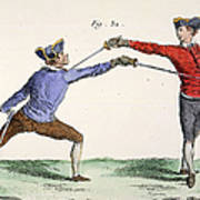 Fencing, 18th Century Art Print