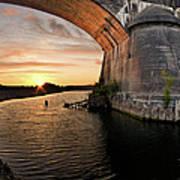 Fernbridge Sunset Art Print
