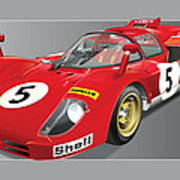 Ferrari 512  S Art Print