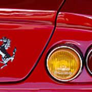 Ferrari Taillight Emblem 2 Art Print