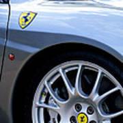 Ferrari Wheel And Emblems Art Print