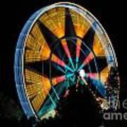 Ferris Wheel At Night Art Print