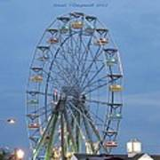 Ferris Wheel At Virginia Beach Art Print