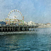 Ferris Wheel On The Santa Monica Pier Art Print