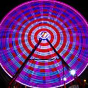 Ferris Wheel Purple Art Print