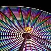 Ferris Wheel Rainbow Art Print