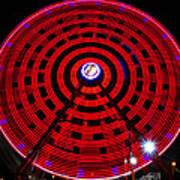 Ferris Wheel Red Art Print