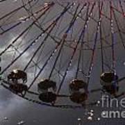 Ferris Wheel Reflection Art Print