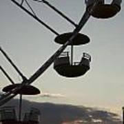 Ferris Wheel Silhouette Art Print