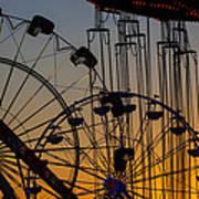 Ferris Wheels Art Print