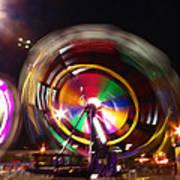 Ferris Wheels Go Round Art Print