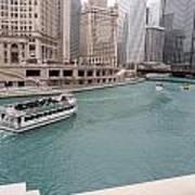 Ferry Through Chicago Art Print