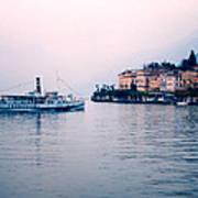Ferry To Bellagio On Lake Como Art Print