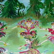 Festive Fairies Art Print