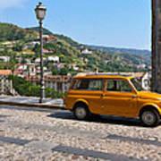 Fiat 500 Amantea Art Print