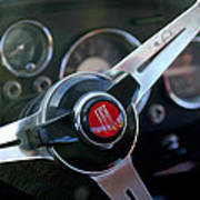 Fiat Steering Wheel Art Print