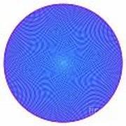 Fibonacci Figure With White Elements On Blue Art Print