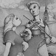 Fiddle Art Print by Louis Gleason