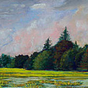 Fields Mid-storm Art Print by Peter Jackson