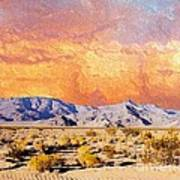 Fiery Western Sky Antarres Road Az Art Print