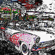 Fifties Drive In Art Print