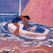 Fighting To Sail Art Print