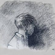 Figure Study Art Print by Thomas Luca