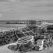 Fiishing Nets At Mudeford Quay Art Print