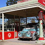 Filling Up The Old Ford Jalopy At The Associated Gasoline Station . Nostalgia . 7d12880 Art Print
