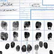 Fingerprint Identification Application Art Print