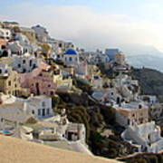 Fira In Santorini Art Print