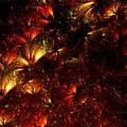 Fire-flowers Art Print