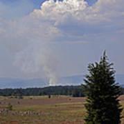 Fire In The Cascades Art Print