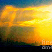 Fire In The City Art Print by Wingsdomain Art and Photography