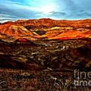 Fire In The Painted Hills Art Print
