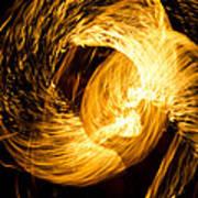 Fire Juggling 02 Art Print