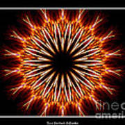 Fire Kaleidoscope Effect Art Print