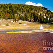 Firehole Lake Art Print