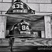 Fireman - Fire Helmets Art Print