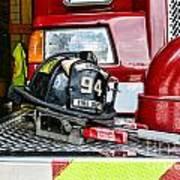 Fireman - Helmet Art Print
