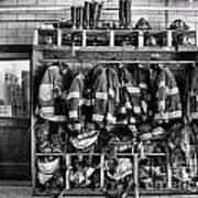 Fireman - Jackets Helmets And Boots Art Print