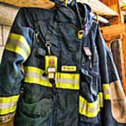 Fireman - Saftey Jacket Art Print