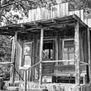 Fireman Cottage B And W Print by Douglas Barnard