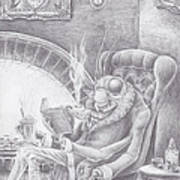Fireside Companion Art Print by Canis Canon