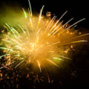 Firework Display At New Year's Eve Art Print by Olaf Broders